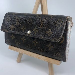Louis Vuitton floral pattern monogram Sarah wallet